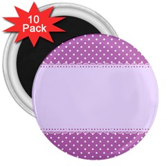 Purple Modern 3  Magnets (10 Pack)  by Nexatart