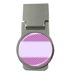 Purple Modern Money Clips (round)
