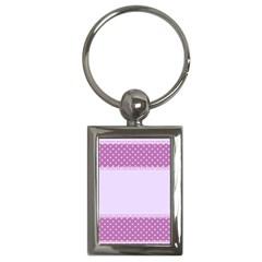 Purple Modern Key Chains (rectangle)  by Nexatart