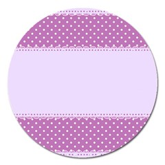 Purple Modern Magnet 5  (round) by Nexatart