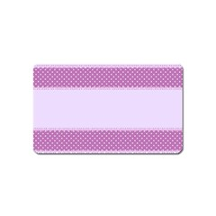 Purple Modern Magnet (name Card) by Nexatart
