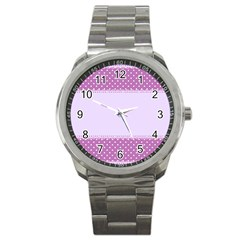 Purple Modern Sport Metal Watch