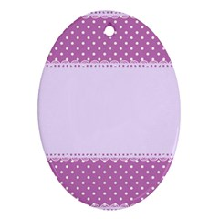 Purple Modern Oval Ornament (two Sides)