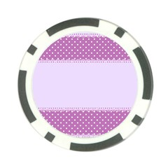 Purple Modern Poker Chip Card Guard