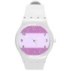 Purple Modern Round Plastic Sport Watch (m) by Nexatart