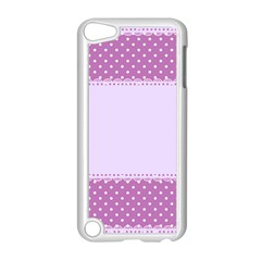 Purple Modern Apple Ipod Touch 5 Case (white) by Nexatart