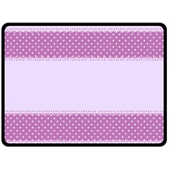 Purple Modern Double Sided Fleece Blanket (large)