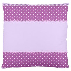 Purple Modern Large Flano Cushion Case (two Sides)