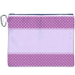 Purple Modern Canvas Cosmetic Bag (xxxl) by Nexatart
