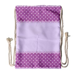 Purple Modern Drawstring Bag (large)