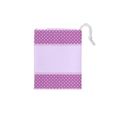Purple Modern Drawstring Pouches (xs)