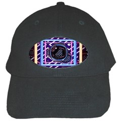 Abstract Sphere Room 3d Design Black Cap