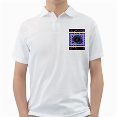 Abstract Sphere Room 3d Design Golf Shirts