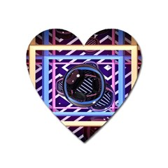 Abstract Sphere Room 3d Design Heart Magnet by Nexatart