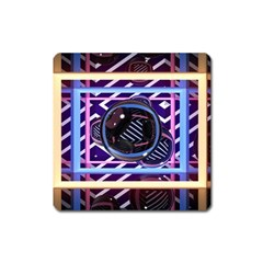 Abstract Sphere Room 3d Design Square Magnet