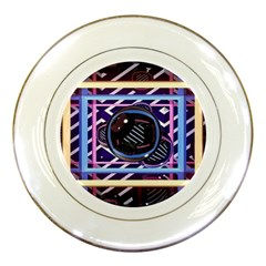 Abstract Sphere Room 3d Design Porcelain Plates by Nexatart