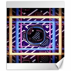 Abstract Sphere Room 3d Design Canvas 8  X 10