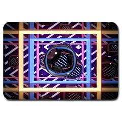 Abstract Sphere Room 3d Design Large Doormat  by Nexatart