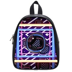 Abstract Sphere Room 3d Design School Bags (small)  by Nexatart