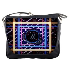Abstract Sphere Room 3d Design Messenger Bags