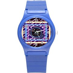 Abstract Sphere Room 3d Design Round Plastic Sport Watch (s) by Nexatart