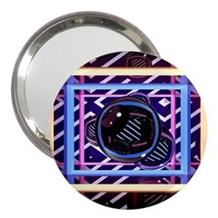 Abstract Sphere Room 3d Design 3  Handbag Mirrors