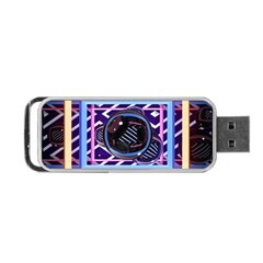 Abstract Sphere Room 3d Design Portable Usb Flash (one Side) by Nexatart