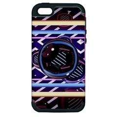 Abstract Sphere Room 3d Design Apple Iphone 5 Hardshell Case (pc+silicone) by Nexatart