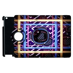 Abstract Sphere Room 3d Design Apple Ipad 2 Flip 360 Case by Nexatart