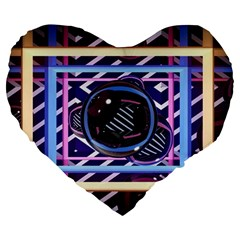 Abstract Sphere Room 3d Design Large 19  Premium Heart Shape Cushions by Nexatart