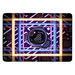 Abstract Sphere Room 3d Design Samsung Galaxy Tab 8 9  P7300 Flip Case by Nexatart