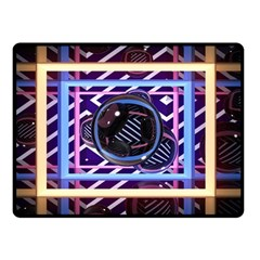 Abstract Sphere Room 3d Design Double Sided Fleece Blanket (small)  by Nexatart