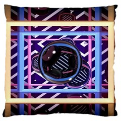 Abstract Sphere Room 3d Design Large Flano Cushion Case (two Sides) by Nexatart