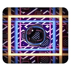 Abstract Sphere Room 3d Design Double Sided Flano Blanket (small)
