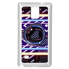 Abstract Sphere Room 3d Design Samsung Galaxy Note 4 Case (white) by Nexatart