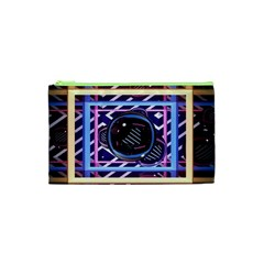 Abstract Sphere Room 3d Design Cosmetic Bag (xs) by Nexatart