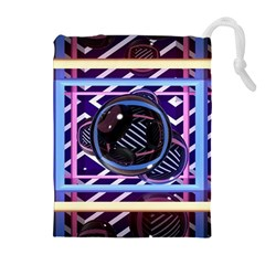 Abstract Sphere Room 3d Design Drawstring Pouches (extra Large)