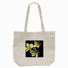 Flowers Black White Bunch Floral Tote Bag (cream)