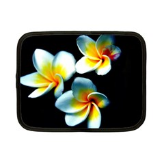 Flowers Black White Bunch Floral Netbook Case (small)  by Nexatart