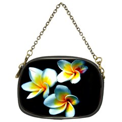 Flowers Black White Bunch Floral Chain Purses (one Side)