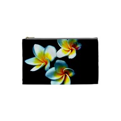 Flowers Black White Bunch Floral Cosmetic Bag (small)  by Nexatart