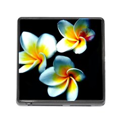 Flowers Black White Bunch Floral Memory Card Reader (square)