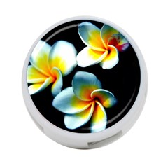 Flowers Black White Bunch Floral 4 Port Usb Hub (two Sides)  by Nexatart