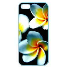 Flowers Black White Bunch Floral Apple Seamless Iphone 5 Case (color) by Nexatart