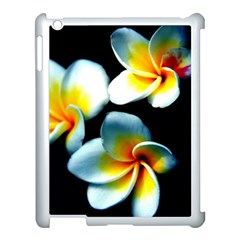 Flowers Black White Bunch Floral Apple Ipad 3/4 Case (white)