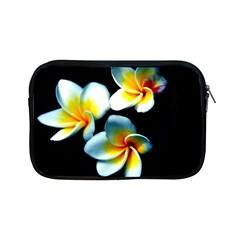 Flowers Black White Bunch Floral Apple Ipad Mini Zipper Cases by Nexatart