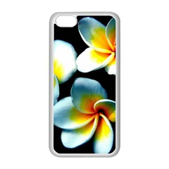 Flowers Black White Bunch Floral Apple Iphone 5c Seamless Case (white) by Nexatart