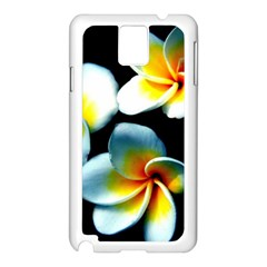 Flowers Black White Bunch Floral Samsung Galaxy Note 3 N9005 Case (white) by Nexatart
