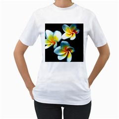 Flowers Black White Bunch Floral Women s T Shirt (white)