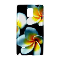 Flowers Black White Bunch Floral Samsung Galaxy Note 4 Hardshell Case by Nexatart